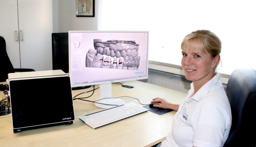 3D Modell vom Zahnersatz